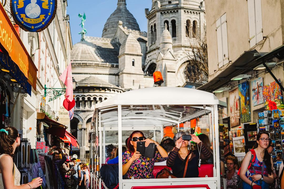 Avril 2015 : Au Sacré-Coeur à Montmartre, à Paris (75), France.