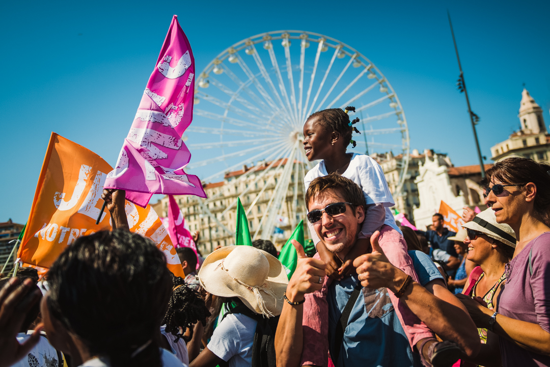 30 Mai 2015 : Marche pour Jésus organisée par l'Egl. Evangélique dans les rues de Marseille (13), France.