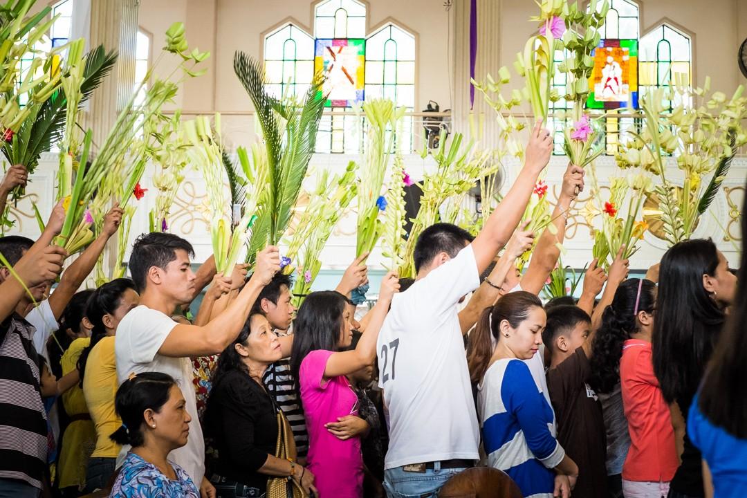 Messe des Rameaux à Manille